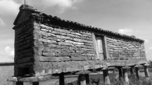 Harreos, anticamente utilizzati come rimessa del grano. Oggi utilizzati come magazzino per il grano. Galizia, un paese che cambia.